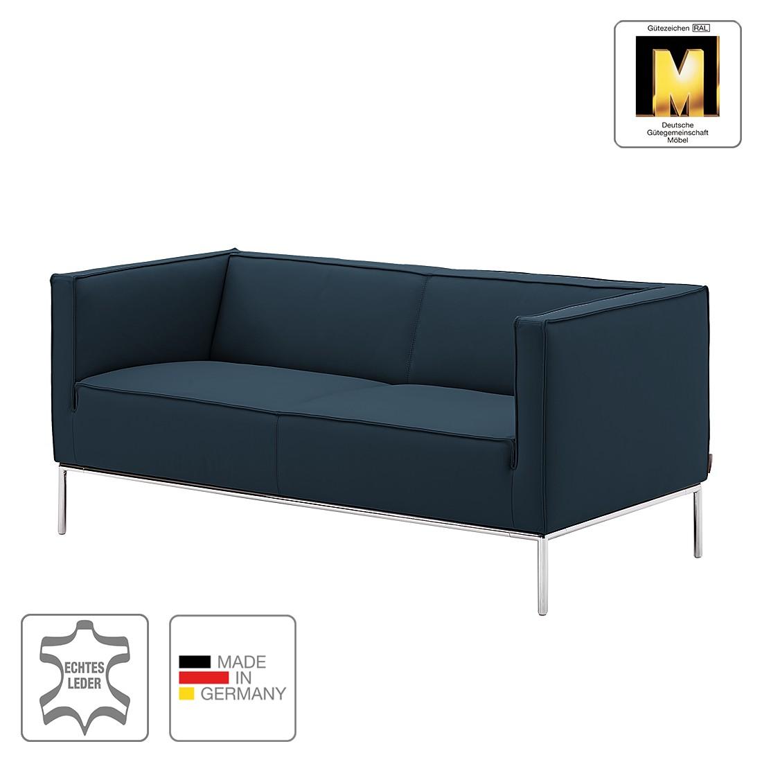 Machalke Schlafsofa sofa greg slim 2 sitzer echtleder marineblau machalke