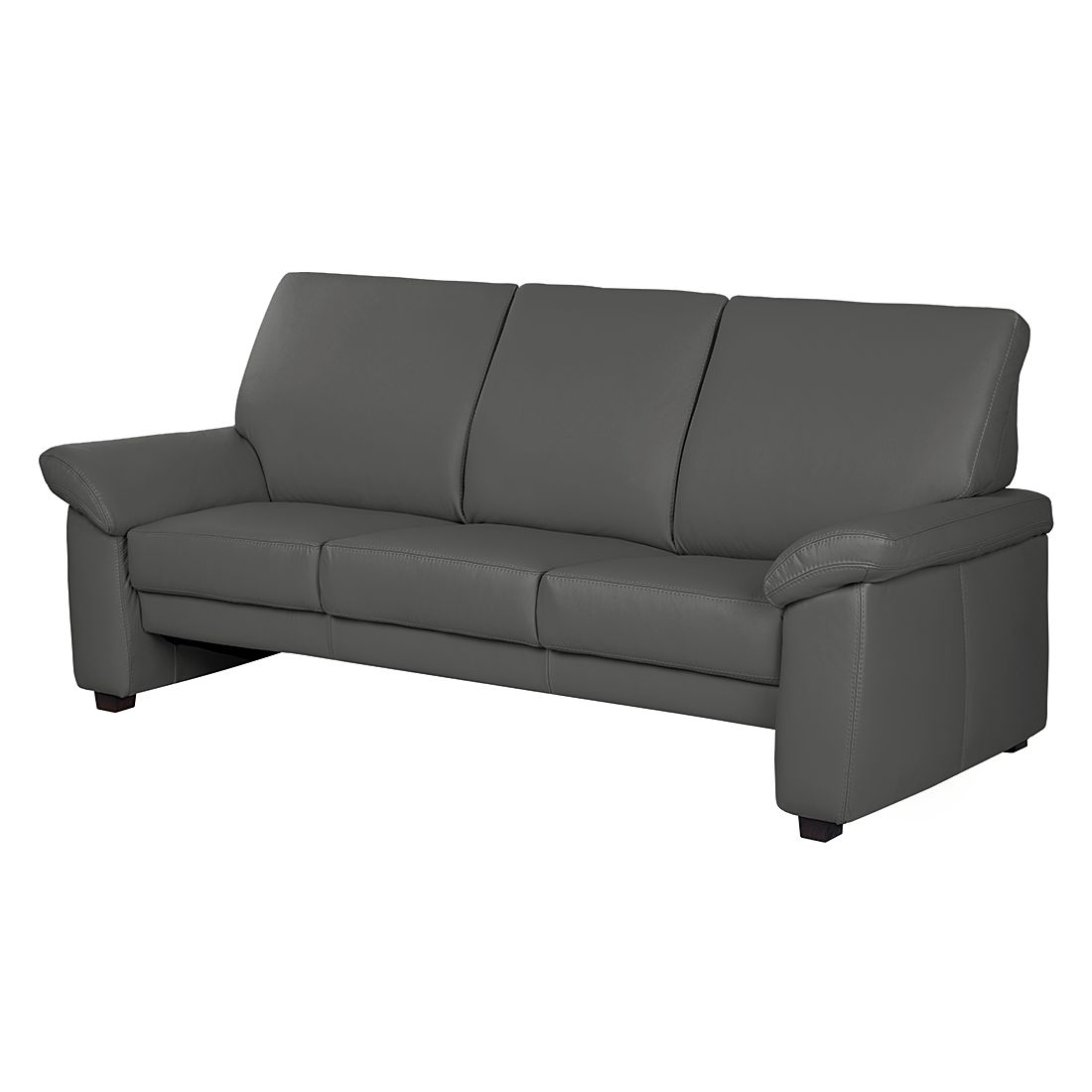 sofa grimsby 3 sitzer echtleder anthrazit nuovoform kaufen. Black Bedroom Furniture Sets. Home Design Ideas