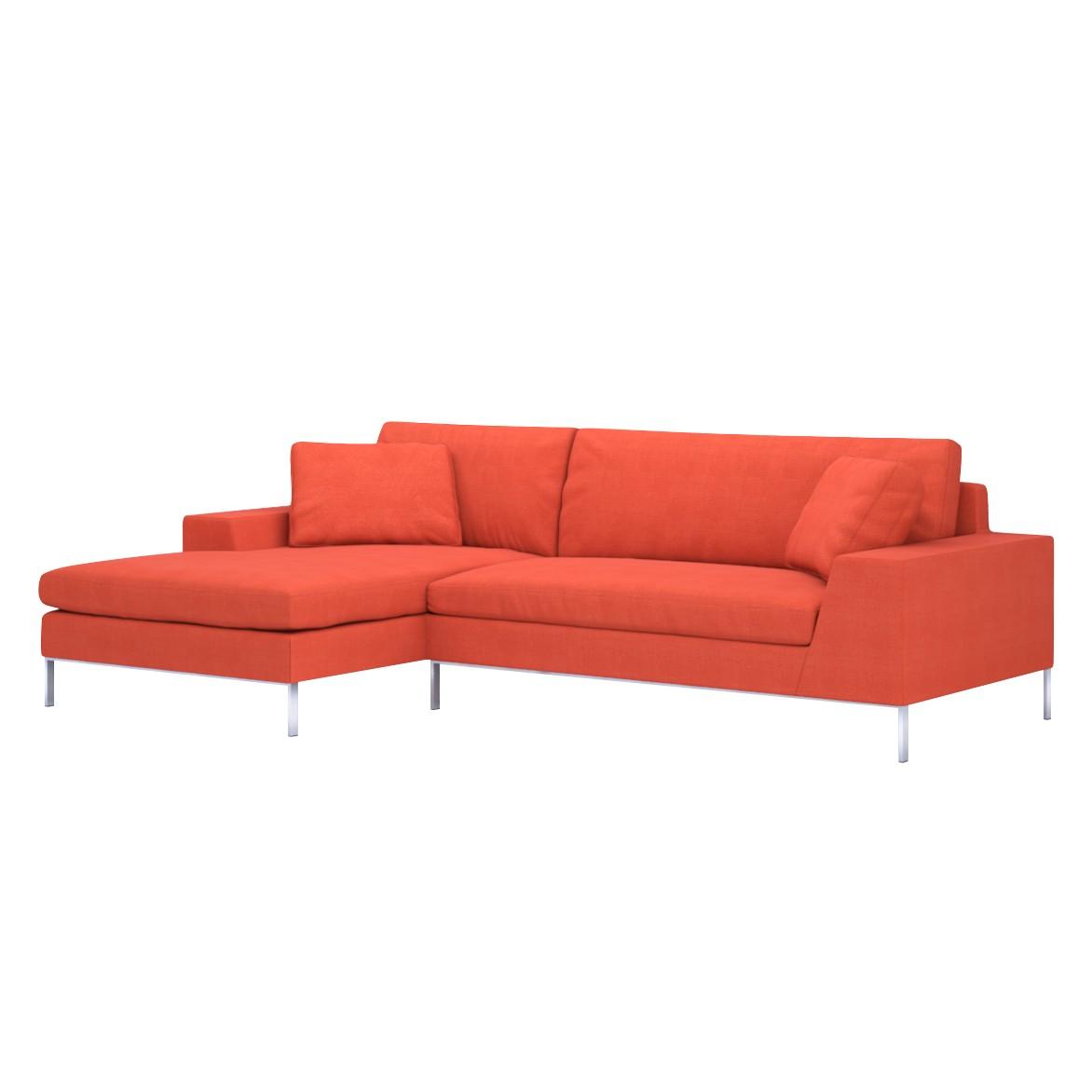 Sofa Helgesen (2-Sitzer) mit Recamière – Longchair/Ottomane davorstehend links – Senja III Orange (Tieforange), Von Wilmowsky online kaufen