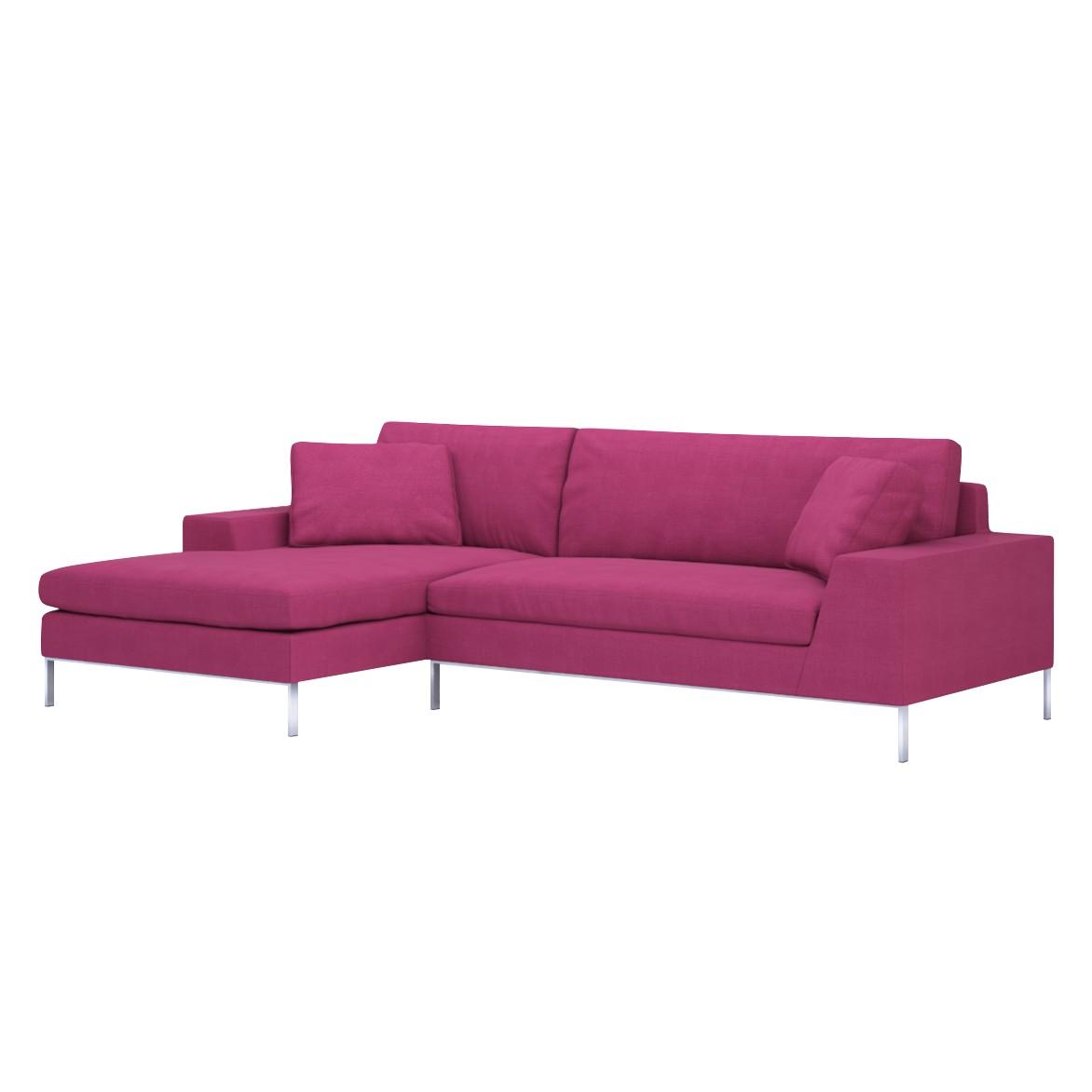 Sofa Helgesen (2-Sitzer) mit Recamière – Longchair/Ottomane davorstehend links – Livø III Pink (Pink), Von Wilmowsky bestellen