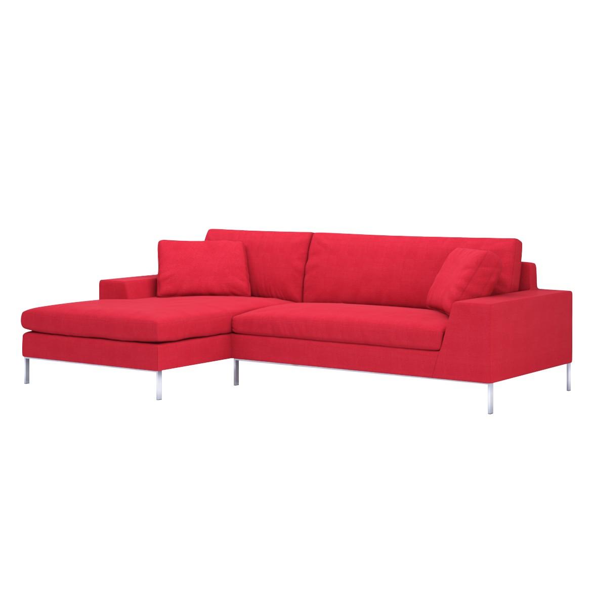 Sofa Helgesen (2-Sitzer) mit Recamière – Longchair/Ottomane davorstehend links – Livø III Red (Tiefrot), Von Wilmowsky online kaufen
