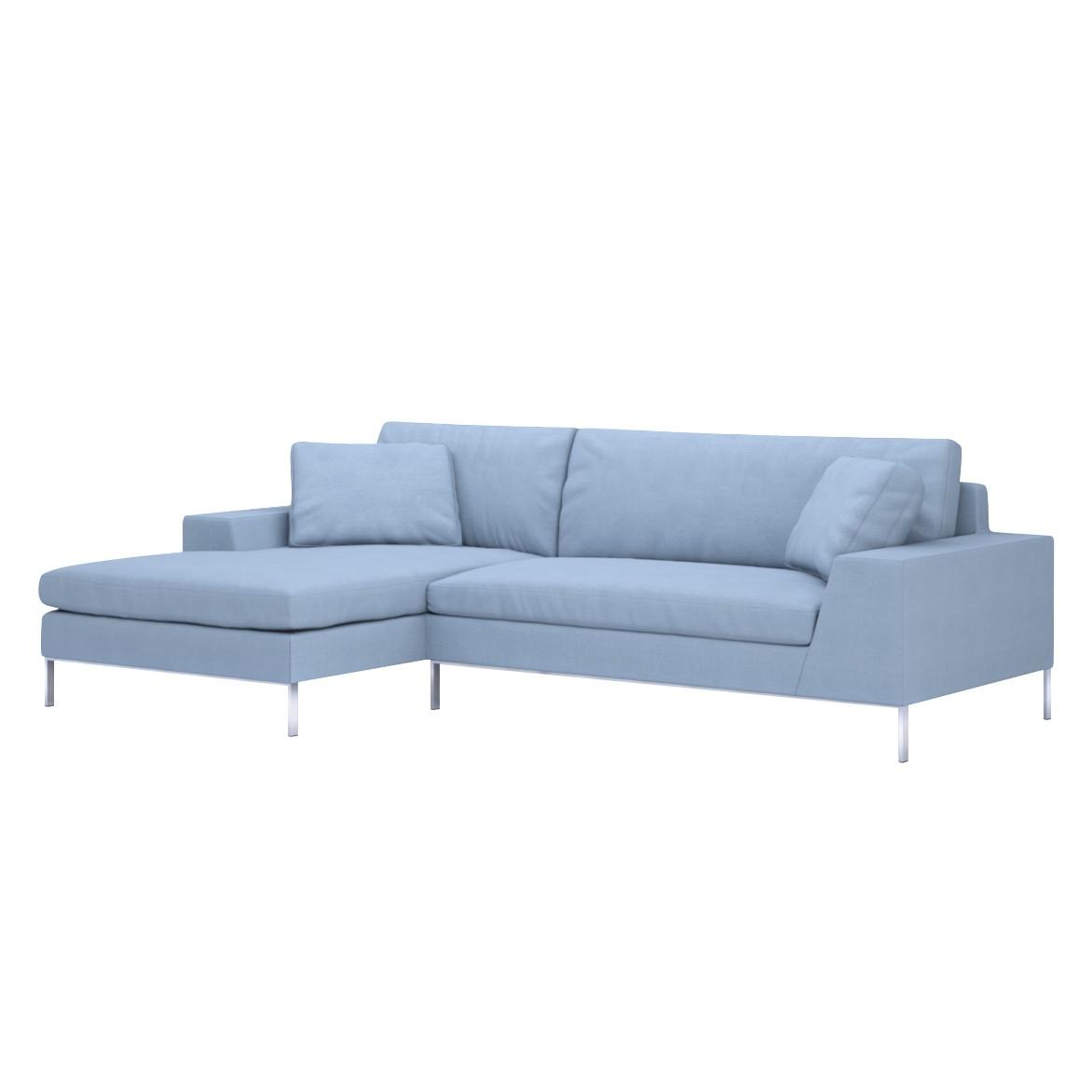 Sofa Helgesen (2-Sitzer) mit Recamière – Longchair/Ottomane davorstehend links – Livø III Storm Blue (Sturmblau), Von Wilmowsky jetzt bestellen
