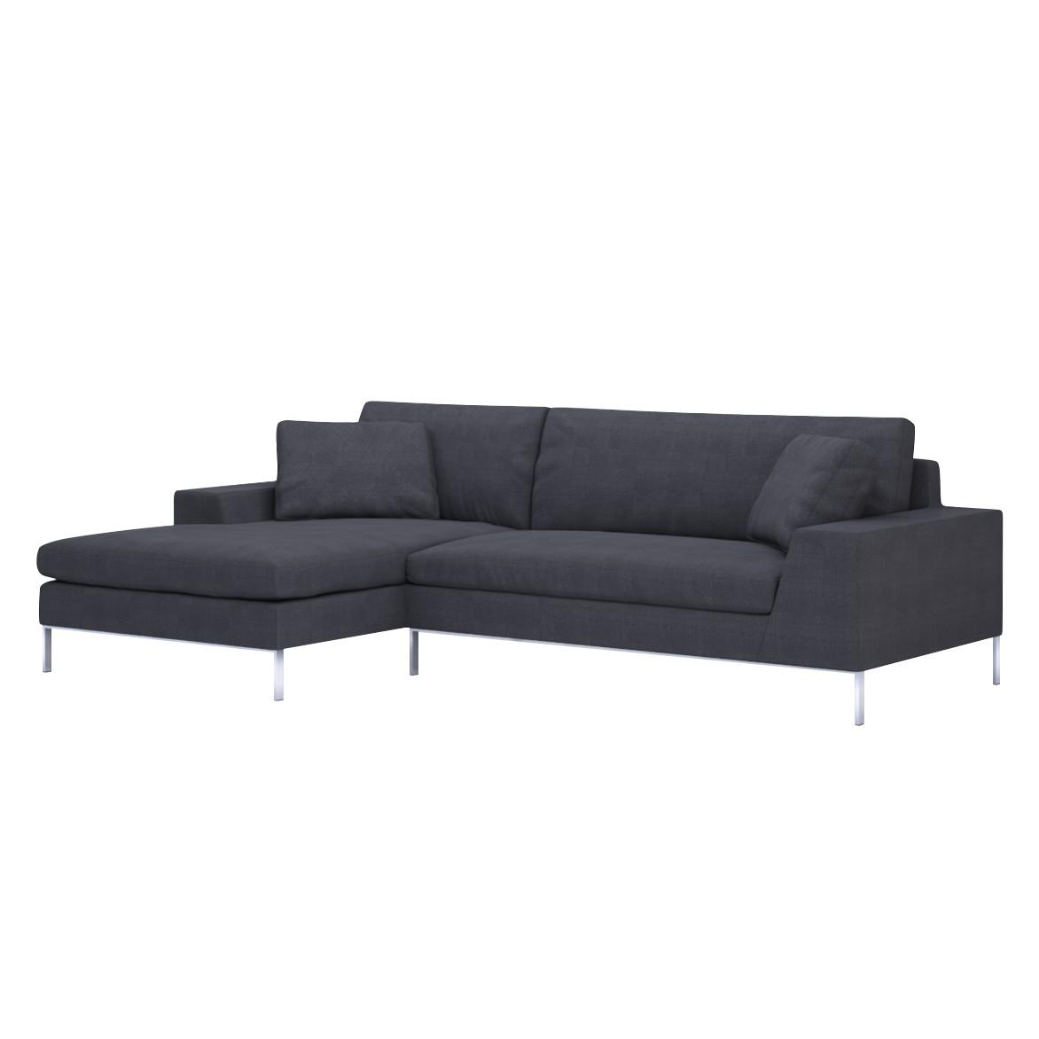 Sofa Helgesen (2-Sitzer) mit Recamière – Longchair/Ottomane davorstehend links – Nyborg III Grey (Charcoal), Von Wilmowsky günstig online kaufen