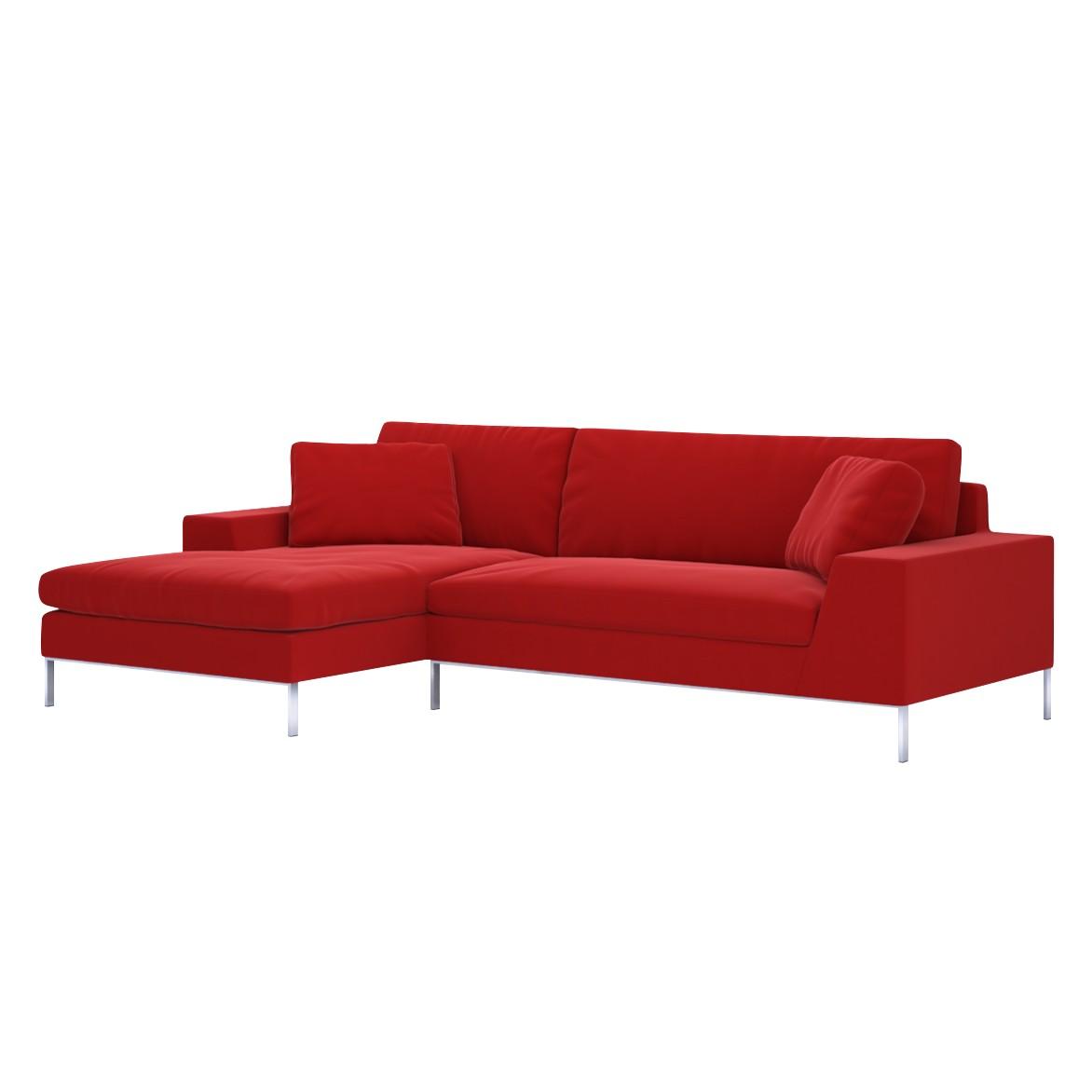Sofa Helgesen (2-Sitzer) mit Recamière – Longchair/Ottomane davorstehend links – Senja III Red (Tomatenrot), Von Wilmowsky bestellen