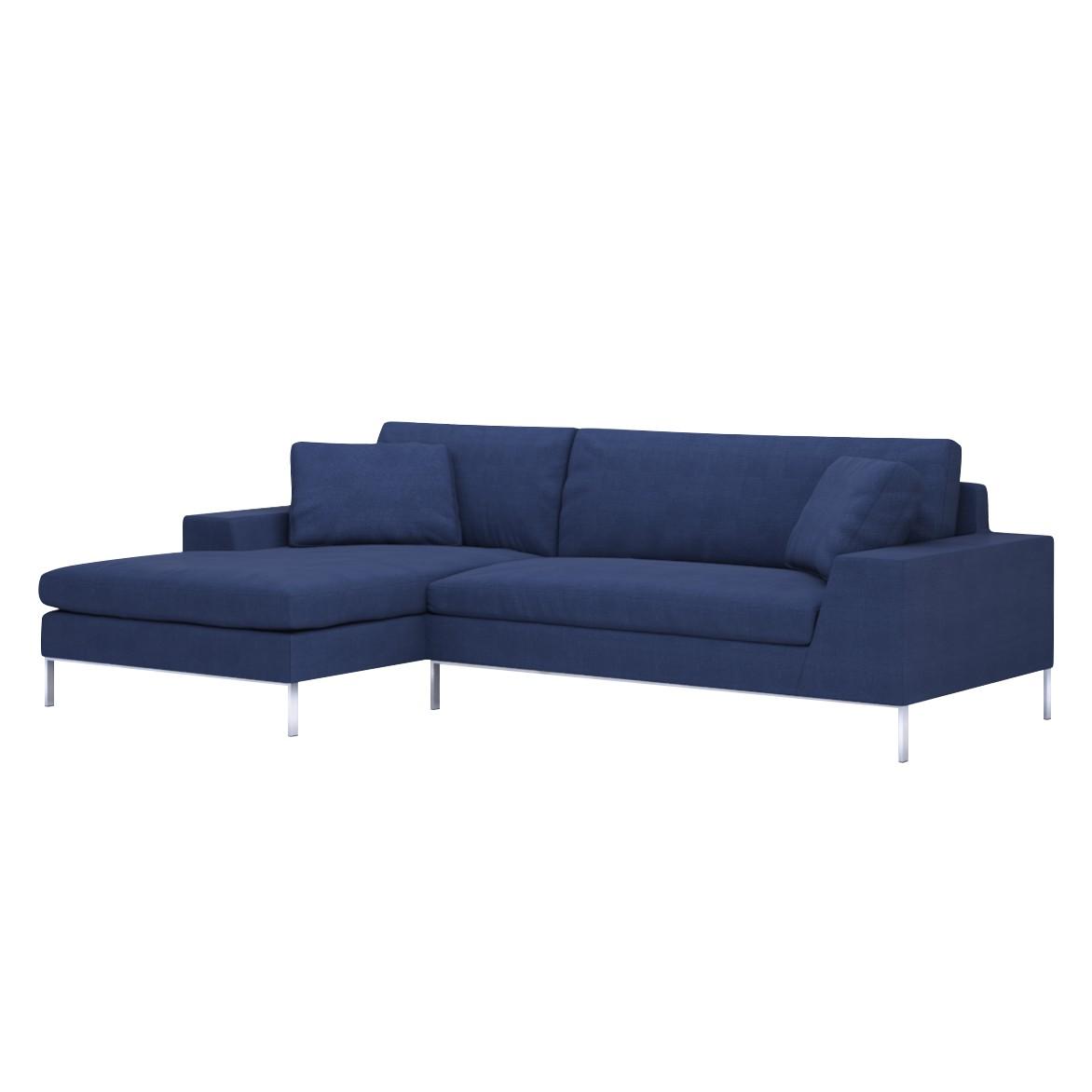 Sofa Helgesen (2-Sitzer) mit Recamière – Longchair/Ottomane davorstehend links – Senja III D.Blue (Mitternachtsblau), Von Wilmowsky jetzt bestellen