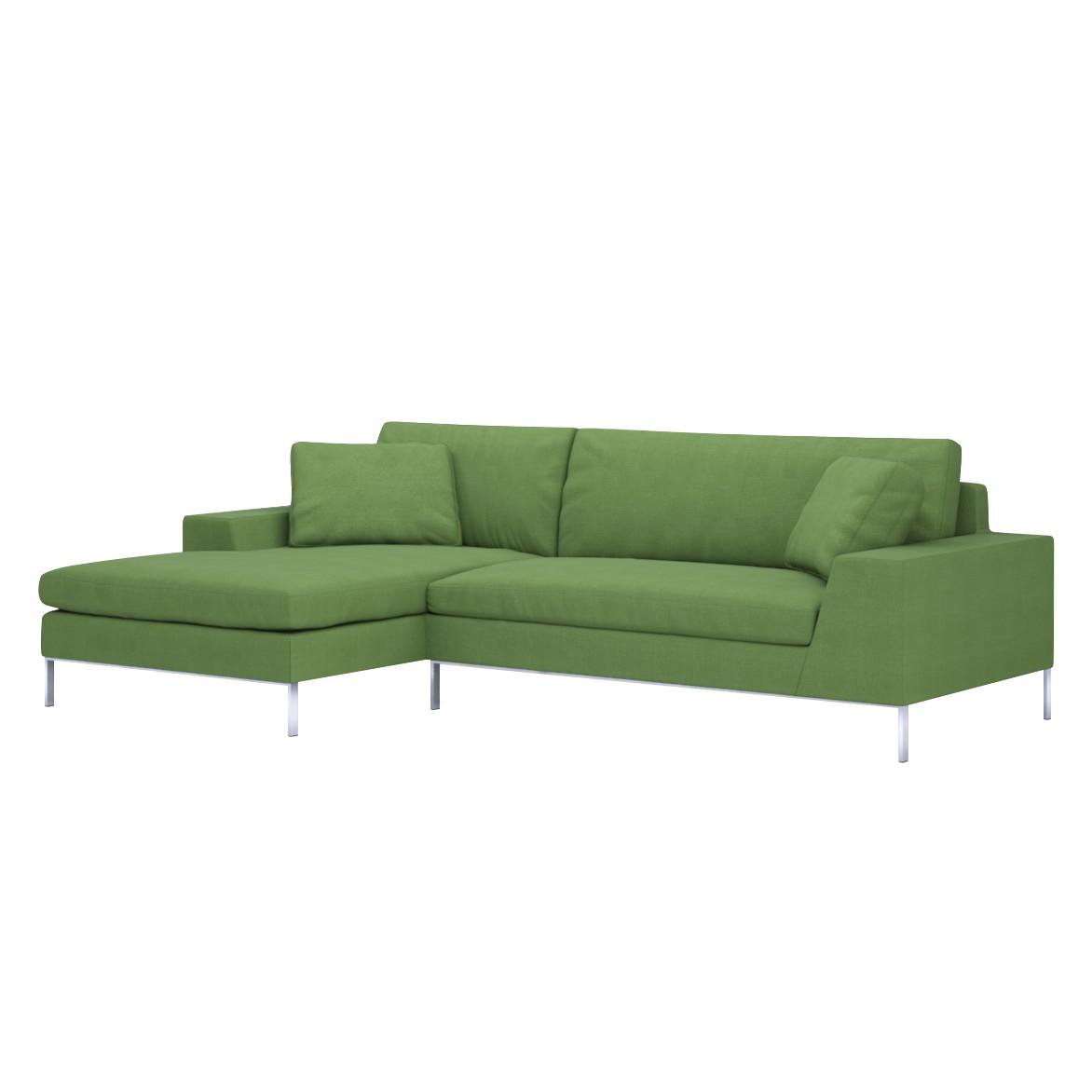 Sofa Helgesen (2-Sitzer) mit Recamière – Longchair/Ottomane davorstehend links – Livø III Pea Green (Hellgruen), Von Wilmowsky jetzt kaufen