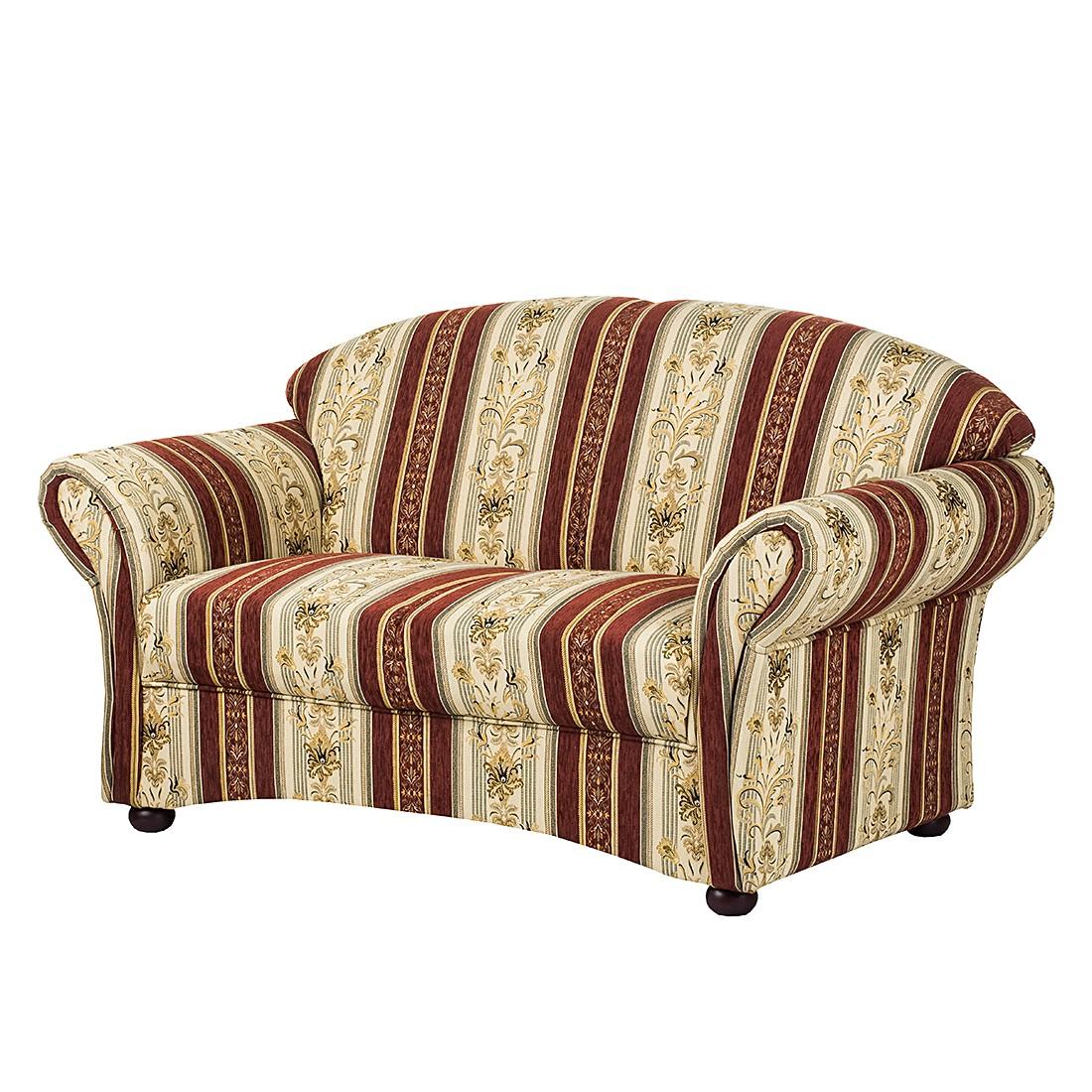 Sofa Henry (2-Sitzer) – Webstoff Beige/Bordeaux, Maison Belfort günstig