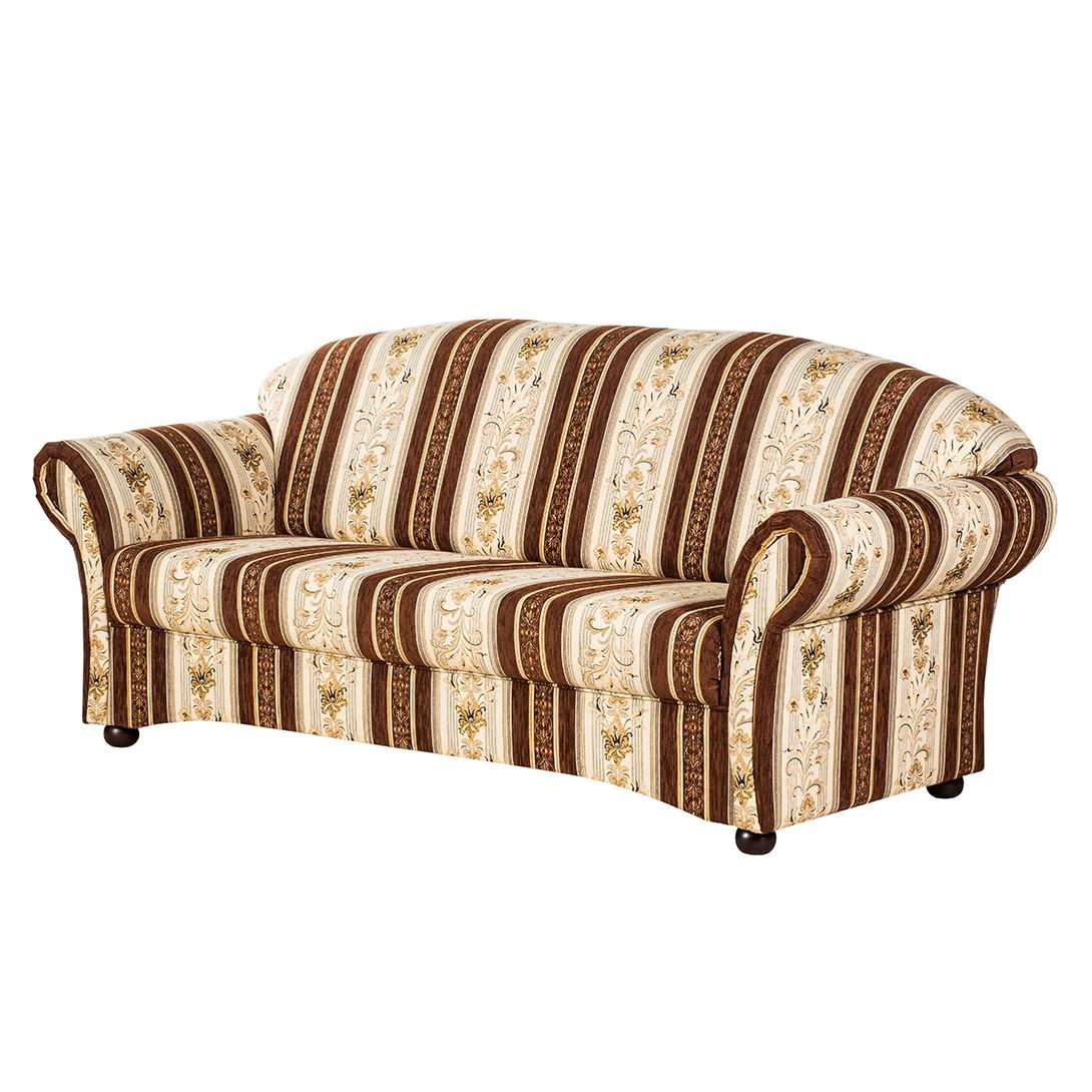 Sofa Henry (3-Sitzer) - Webstoff Beige/Braun, Maison Belfort