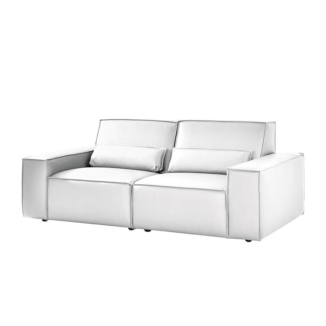 sofa juillet 2 5 sitzer kunstleder wei roomscape g nstig kaufen. Black Bedroom Furniture Sets. Home Design Ideas