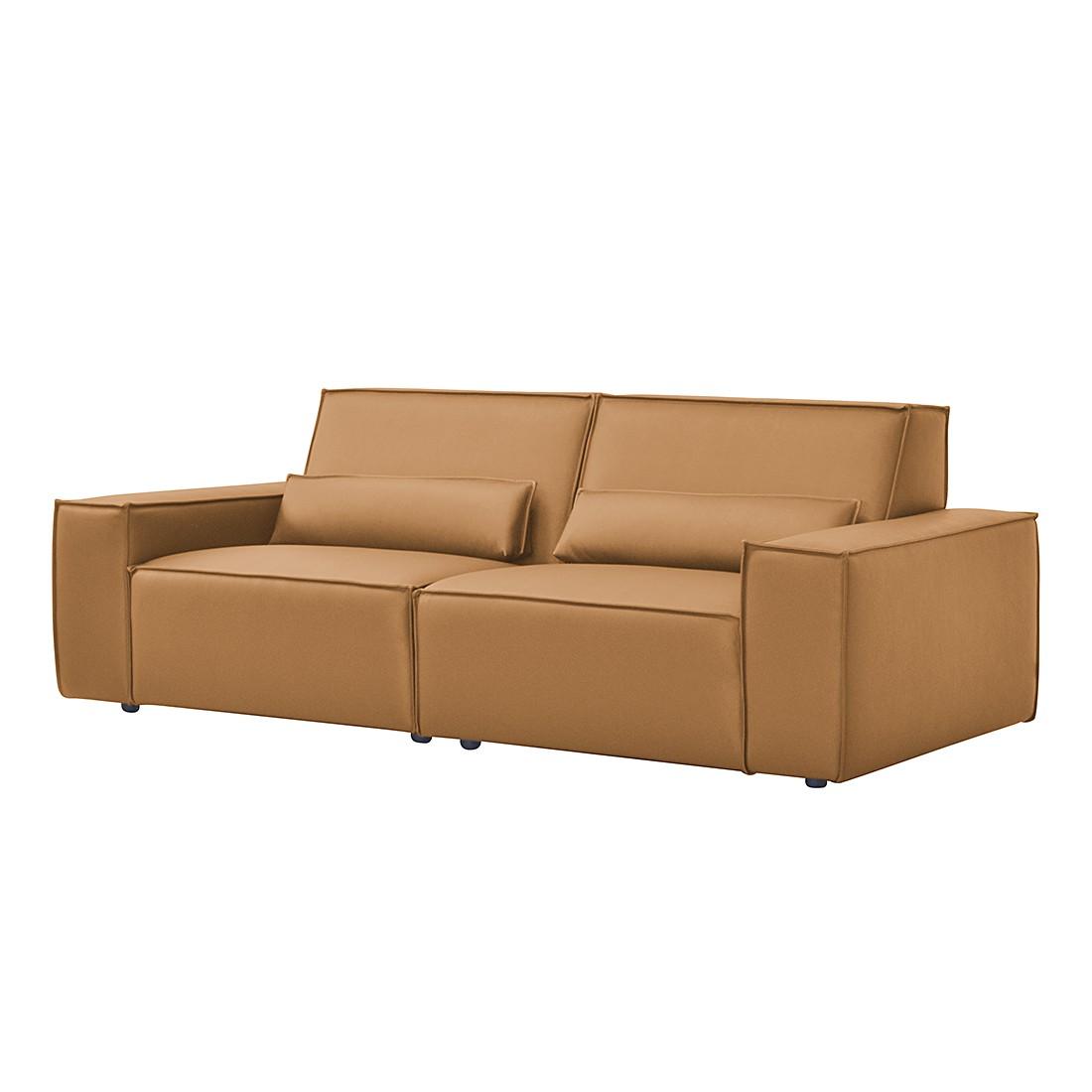 sofa juillet 3 sitzer kunstleder cognac roomscape. Black Bedroom Furniture Sets. Home Design Ideas