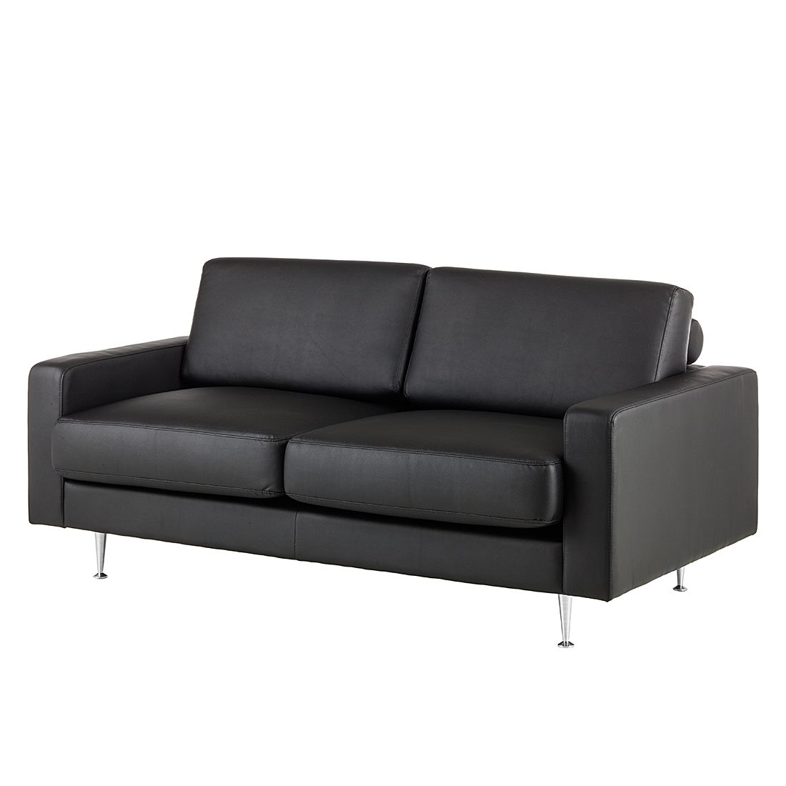 sofa laval 2 sitzer kunstleder schwarz fredriks g nstig. Black Bedroom Furniture Sets. Home Design Ideas