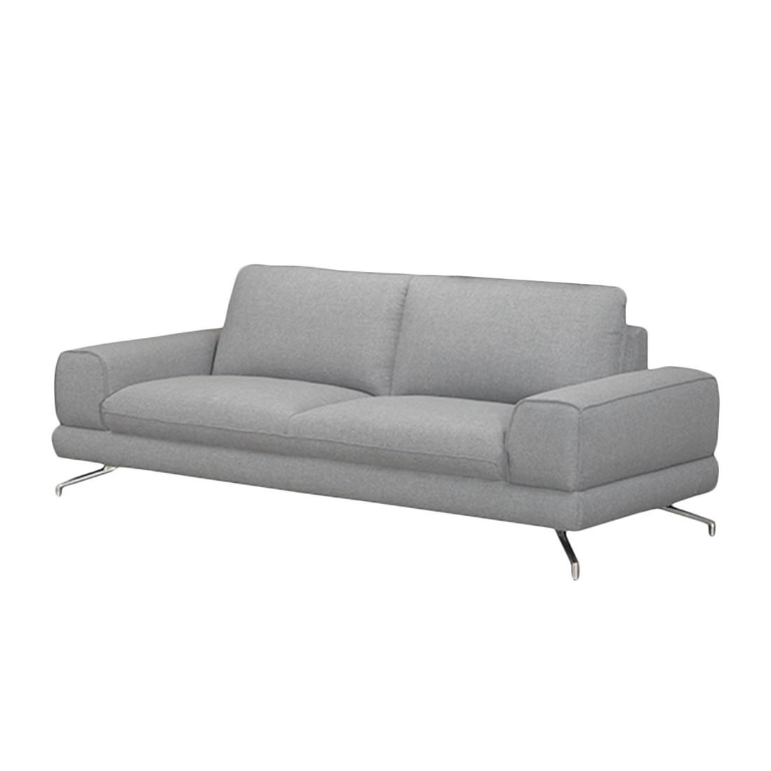 Sofa Lennard (2,5-Sitzer) – Webstoff Grau – Mit 1 Kopfstütze, loftscape günstig bestellen