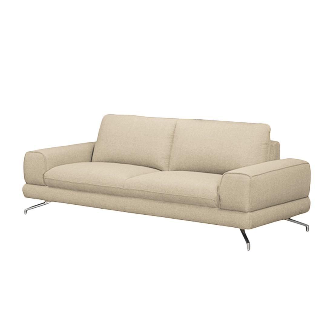 Sofa Lennard (3-Sitzer) – Webstoff Beige – Ohne Kopfstütze, loftscape jetzt bestellen