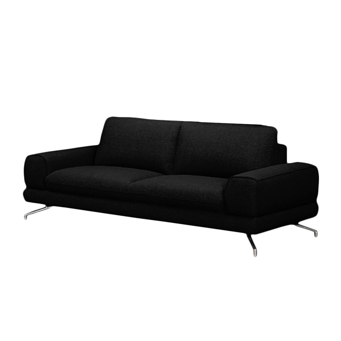 sofa lennard 3 sitzer webstoff schwarz ohne kopfst tze loftscape g nstig. Black Bedroom Furniture Sets. Home Design Ideas
