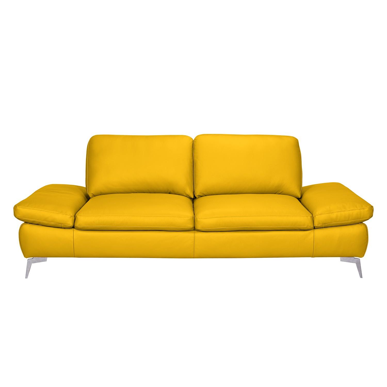 Sofa Levy (2,5-Sitzer) - Echtleder - Safrangelb, loftscape