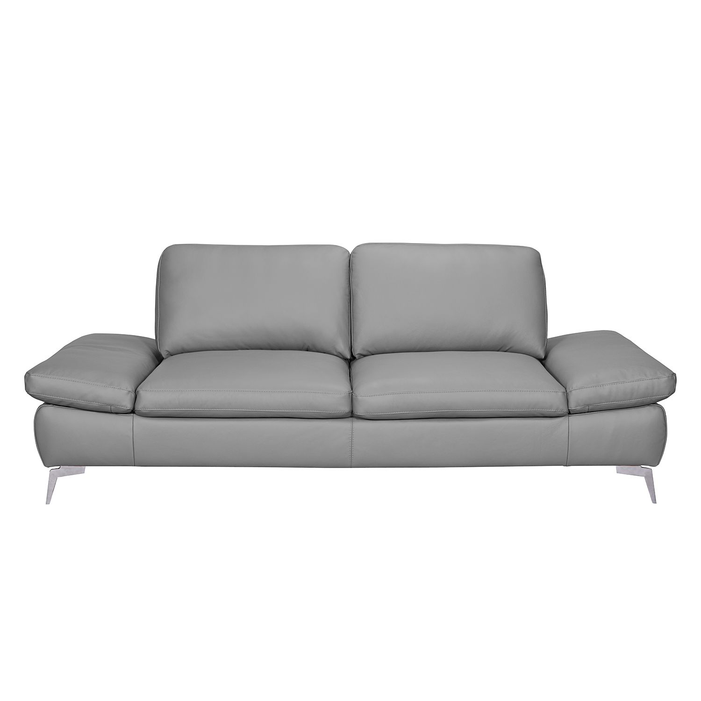 Sofa Levy (3-Sitzer) - Kunstleder - Grau, loftscape