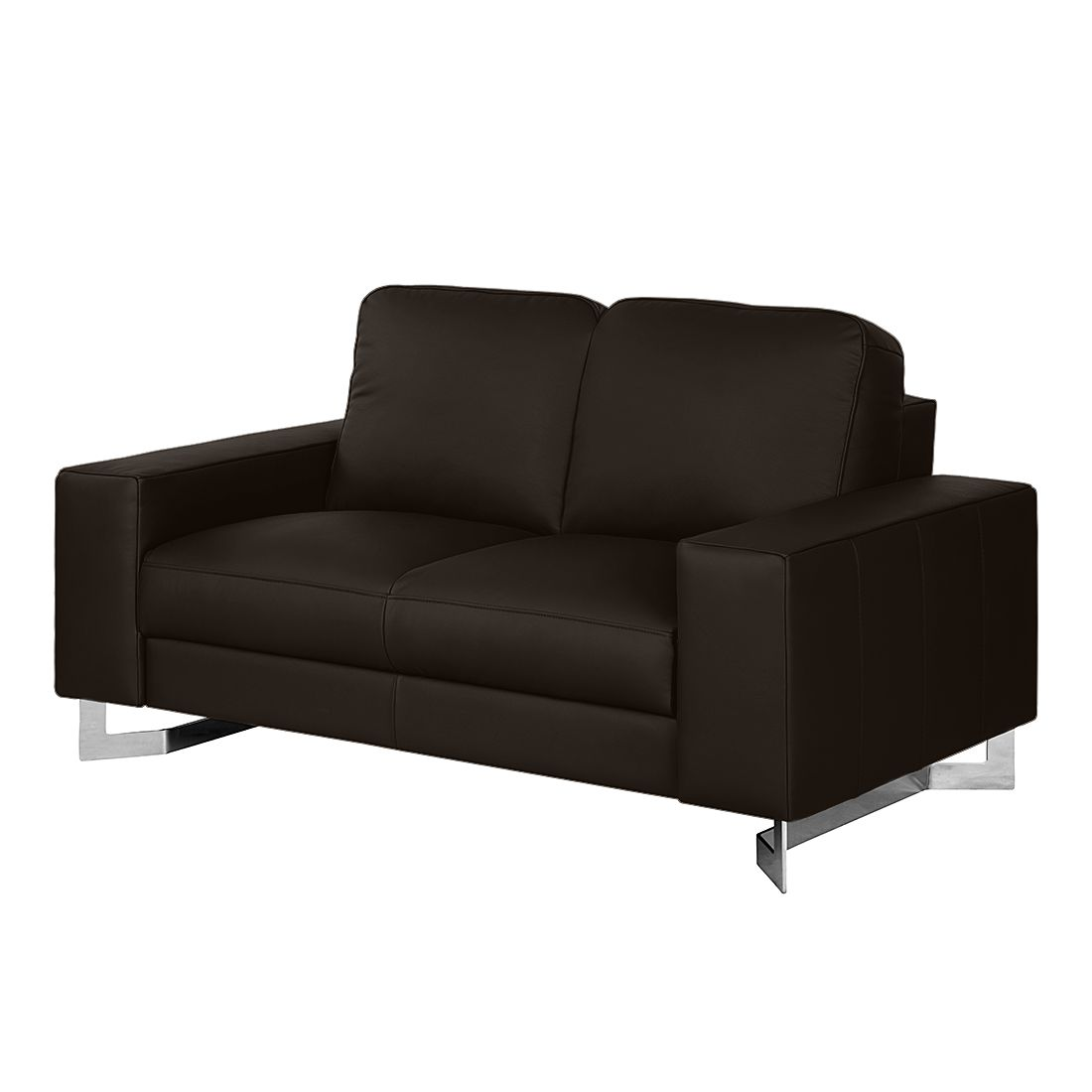 sofa licata 2 sitzer echtleder dunkelbraun nuovoform g nstig. Black Bedroom Furniture Sets. Home Design Ideas