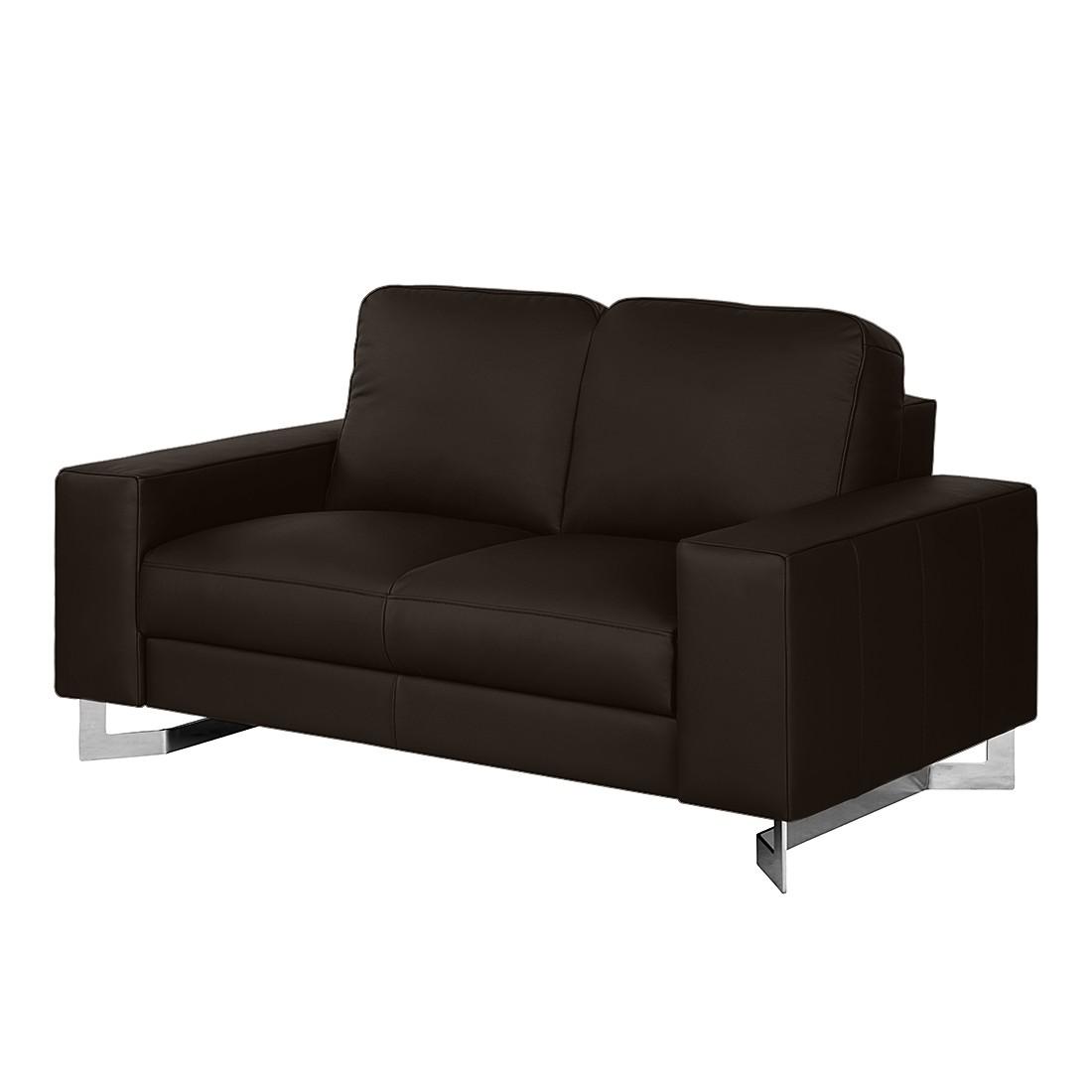 sofa licata 2 sitzer echtleder dunkelbraun nuovoform g nstig. Black Bedroom Furniture Sets. Home Design Ideas