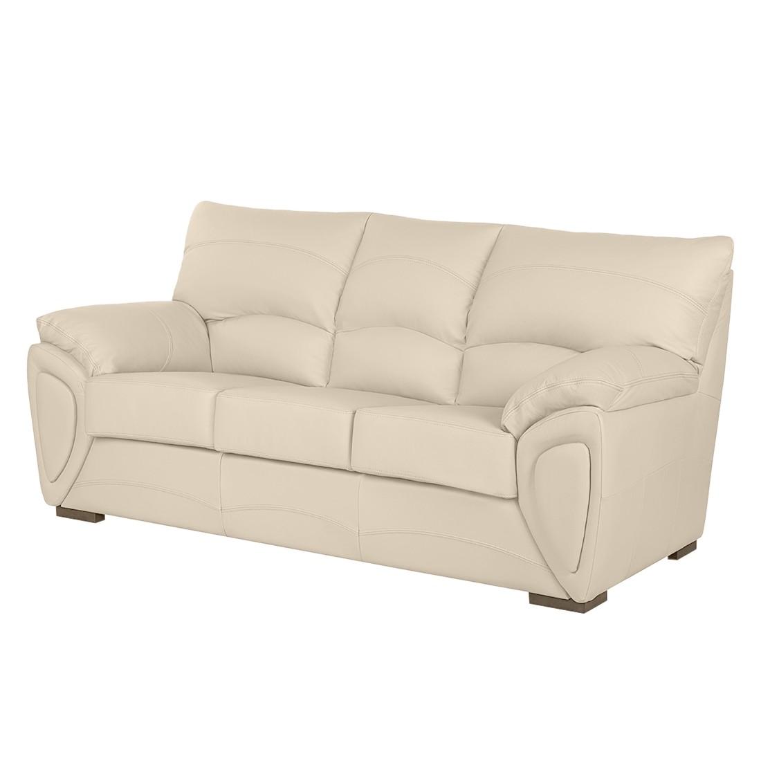Sofa Luzzi (3-Sitzer) - Echtleder - Beige, Nuovoform