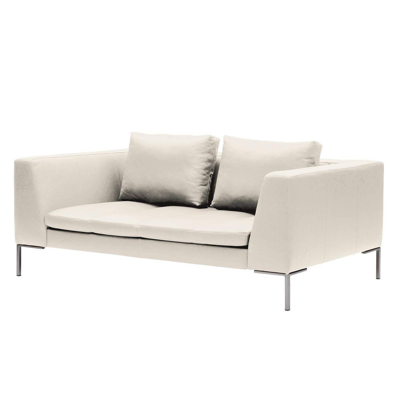Sofa Madison (2-Sitzer) - Echtleder - Creme, Studio Copenhagen