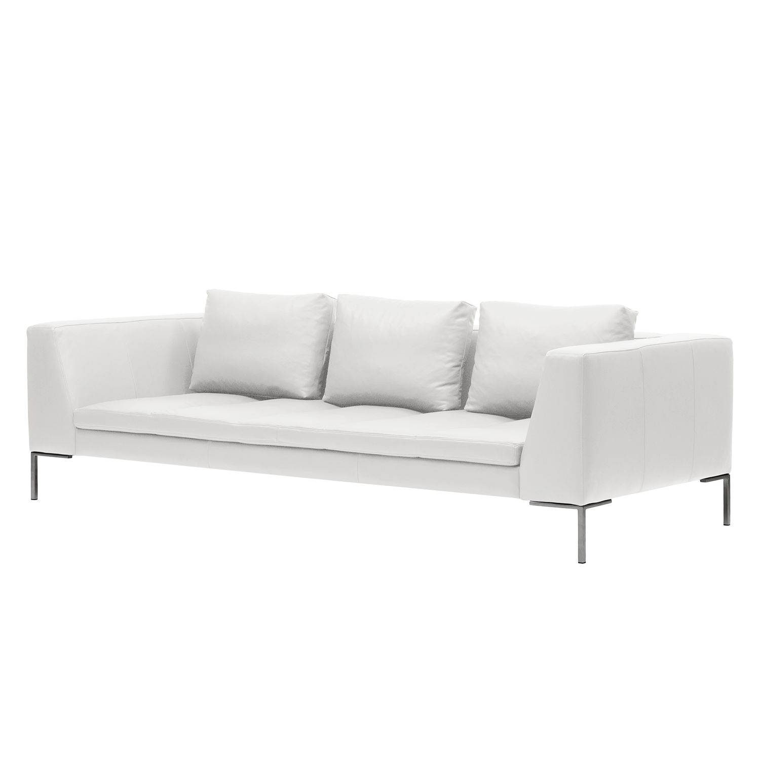 sofa madison 3 sitzer echtleder wei studio copenhagen g nstig kaufen. Black Bedroom Furniture Sets. Home Design Ideas