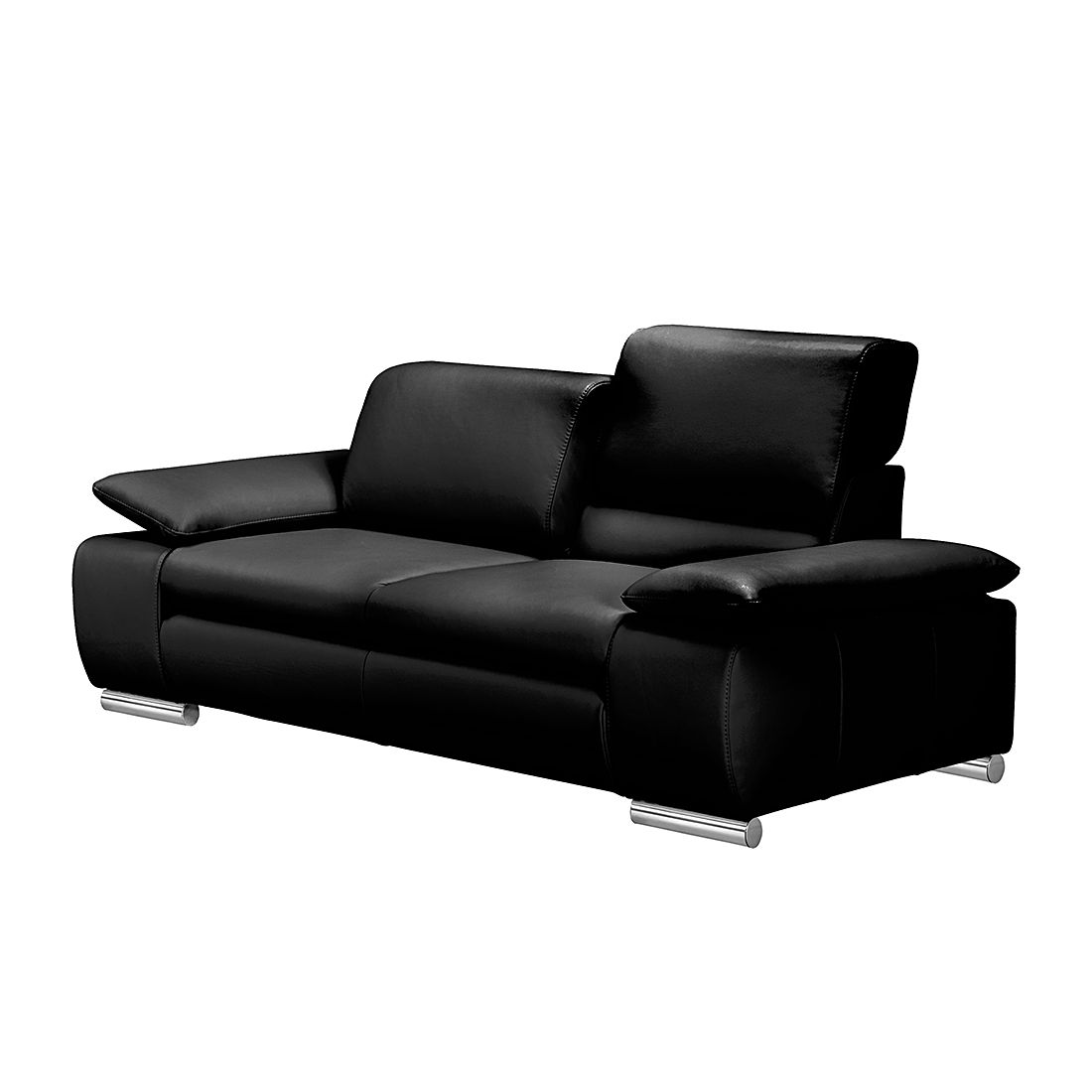 Sofa Masca (2-Sitzer) - Kunstleder Schwarz, loftscape