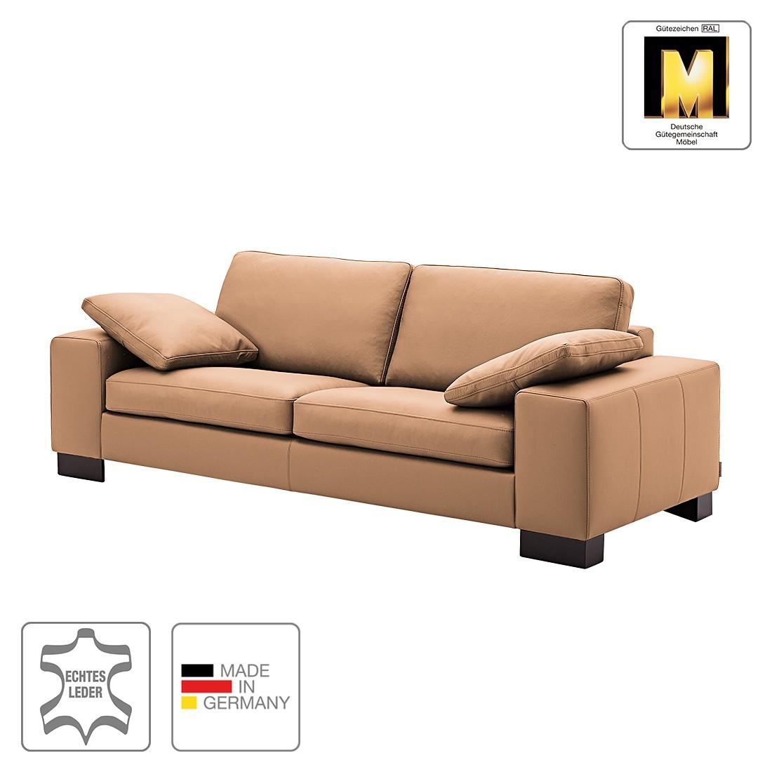 Sofa Matador (3-Sitzer) - Echtleder - Taupe - 1 Kissen, Machalke Polsterwerkstätten