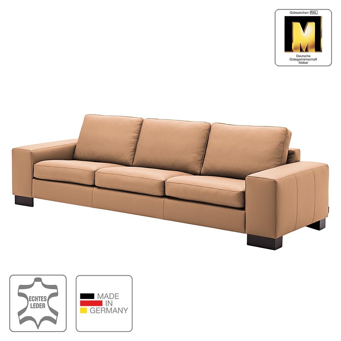Sofa Matador (4-Sitzer) - Echtleder - Taupe - 1 Kissen, Machalke Polsterwerkstätten