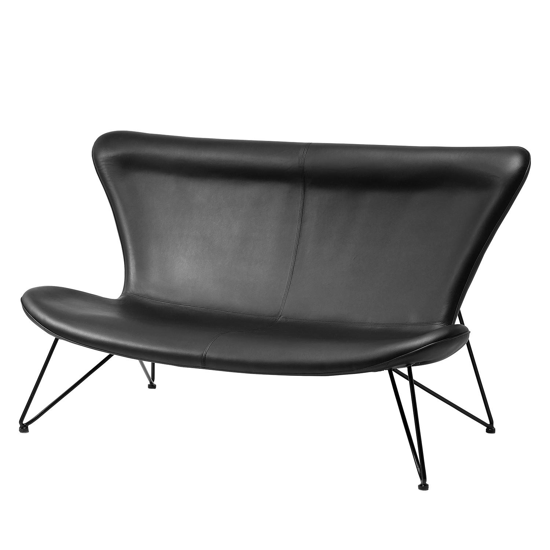 Sofa Miami Black 3-Sitzer Econo - Kunstleder - Schwarz, Kare Design