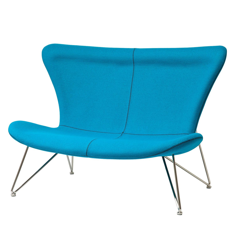 Sofa Miami Turquoise 2-Sitzer - Mischgewebe - Türkis, Kare Design