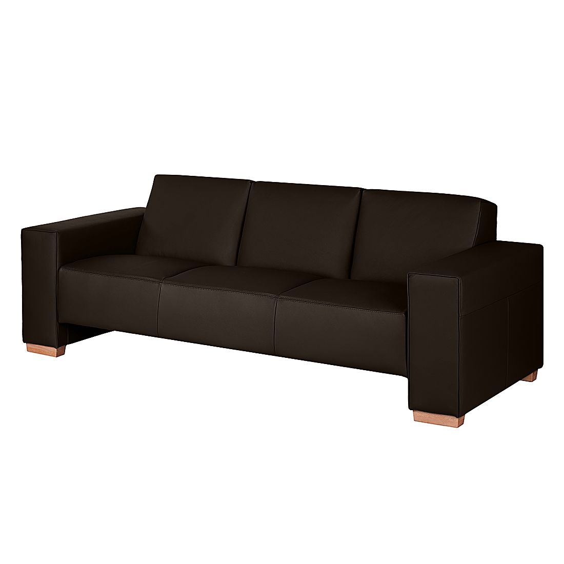 sofa midar 3 sitzer echtleder dunkelbraun roomscape online kaufen. Black Bedroom Furniture Sets. Home Design Ideas