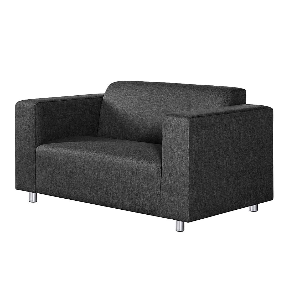 Sofa Oslo (2-Sitzer) – Strukturstoff Anthrazit, roomscape günstig online kaufen