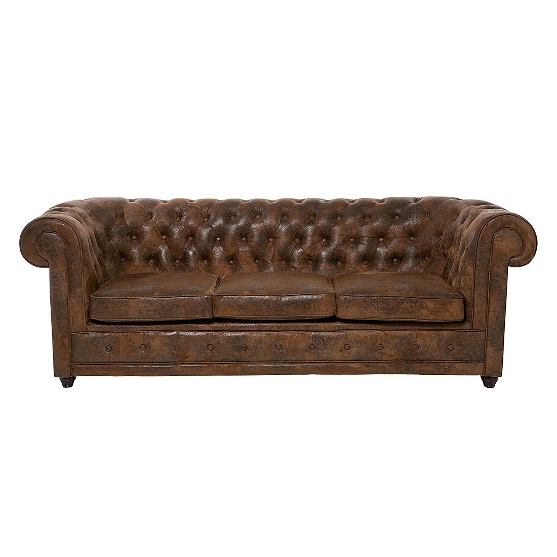 Sofa Oxford Vintage Eco (3-Sitzer) - Microfaser Braun, Kare Design
