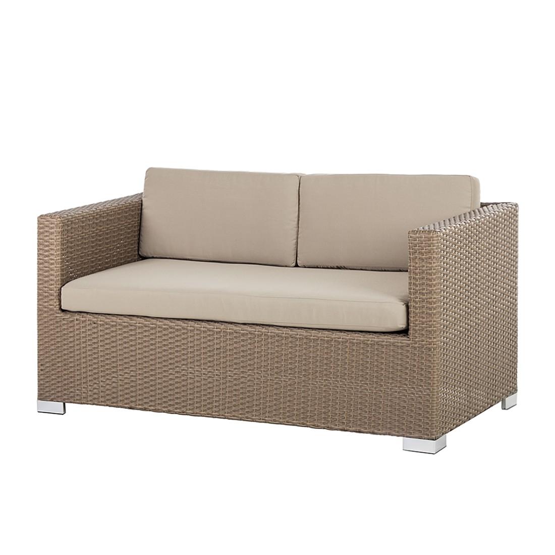 Sofa Rattanesco Puca – Polyrattan/Textil – Braun/Beige, King's Garden bestellen