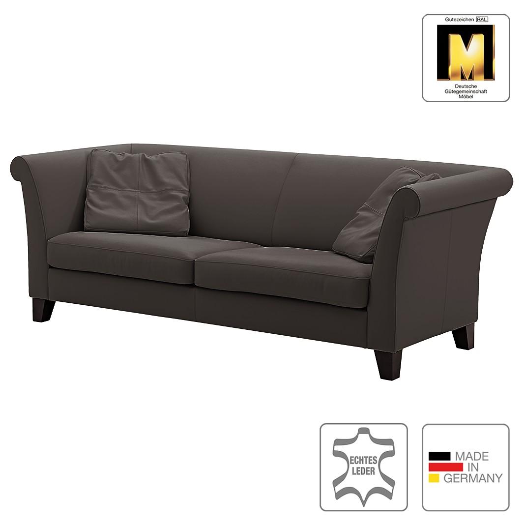 Sofa Ritz (3-Sitzer) – Echtleder – Dunkelbraun, Machalke Polsterwerkstätten jetzt bestellen