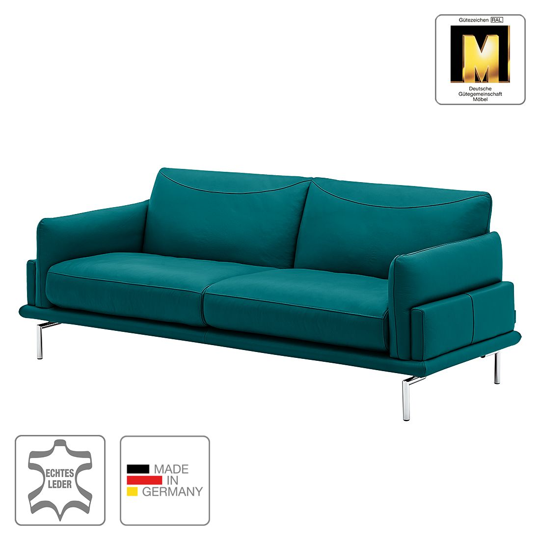 sofa seattle 3 sitzer echtleder petrol machalke polsterwerkst tten kaufen. Black Bedroom Furniture Sets. Home Design Ideas