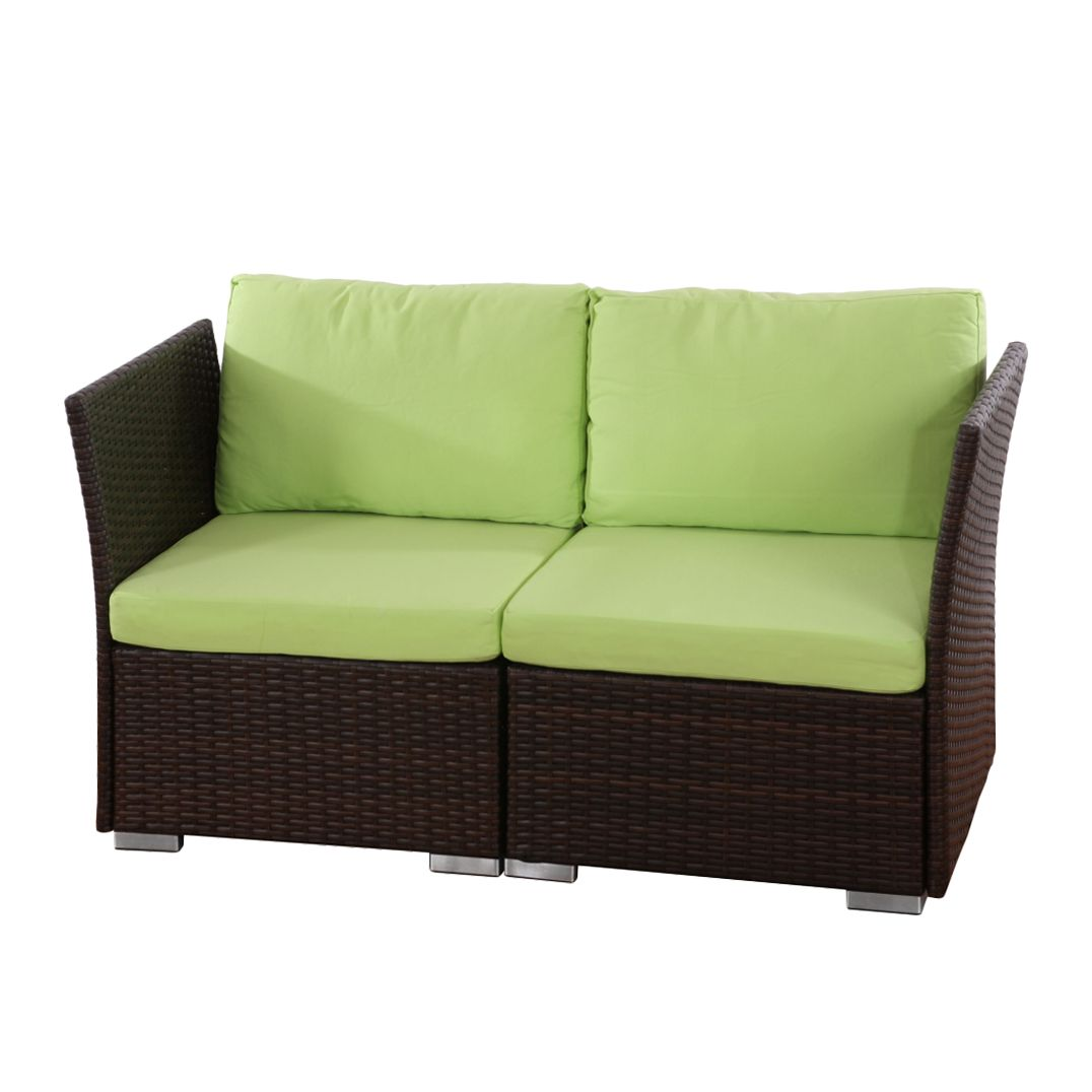 Preisvergleich eu polyrattan sofa braun for Sofas sevilla