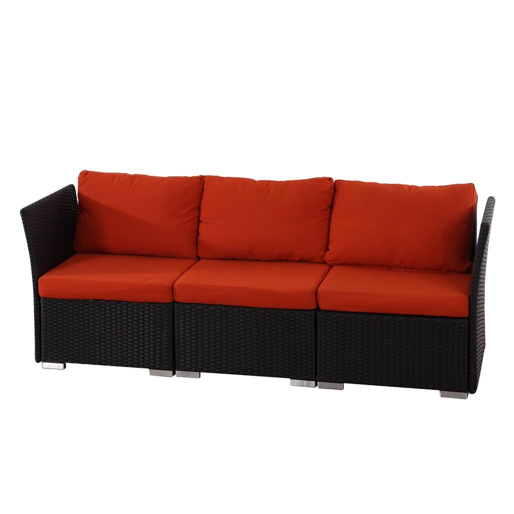 sofa sevilla 3 sitzer poly rattan gastronomie. Black Bedroom Furniture Sets. Home Design Ideas