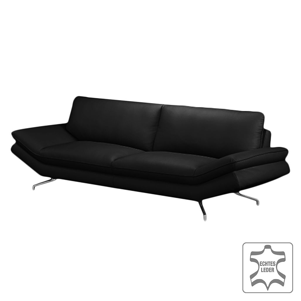 sofa sharon 2 5 sitzer echtleder schwarz ohne. Black Bedroom Furniture Sets. Home Design Ideas