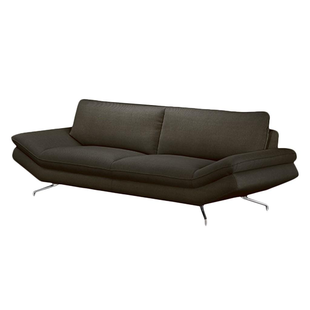 Sofa Sharon (2,5-Sitzer) – Strukturstoff Grau-Braun – Ohne Kopfstütze, loftscape günstig bestellen