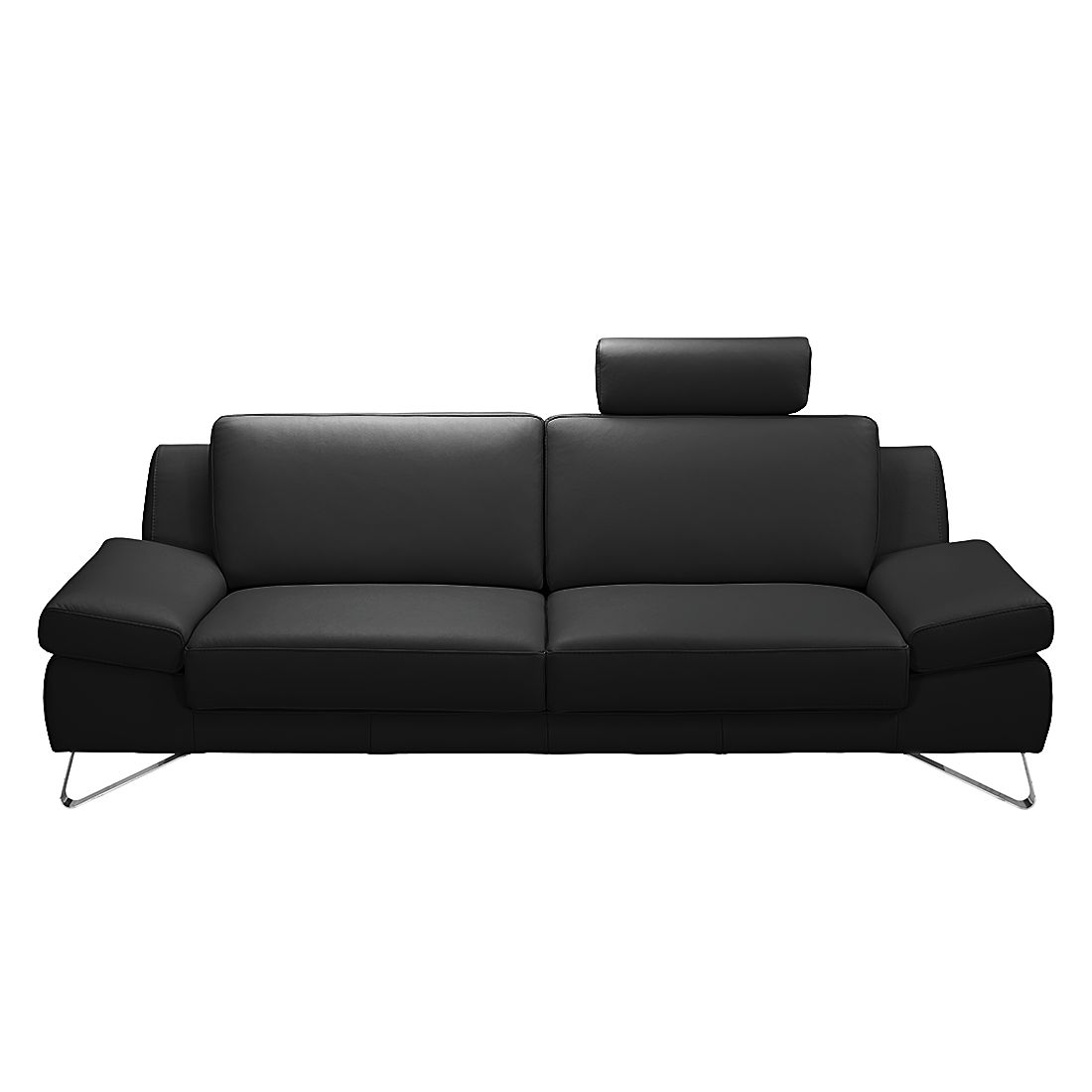 sofa silvano von loftscape in schwarz mit kopfst tze nur. Black Bedroom Furniture Sets. Home Design Ideas