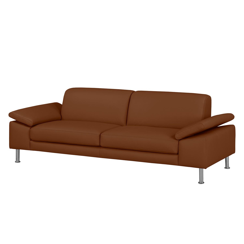 Sofa Termon II (3-Sitzer) - Echtleder - Mittelbraun, Nuovoform