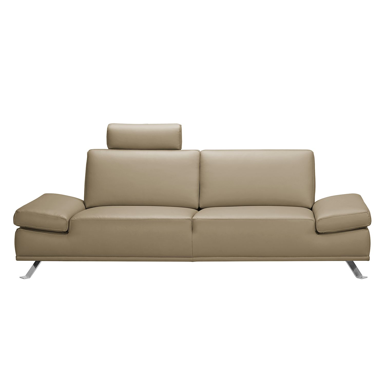 Sofa Toone (2,5-Sitzer) - Kunstleder - Beige, loftscape