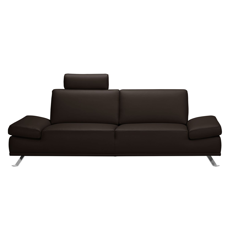 Sofa Toone (2,5-Sitzer) - Kunstleder - Dunkelbraun, loftscape