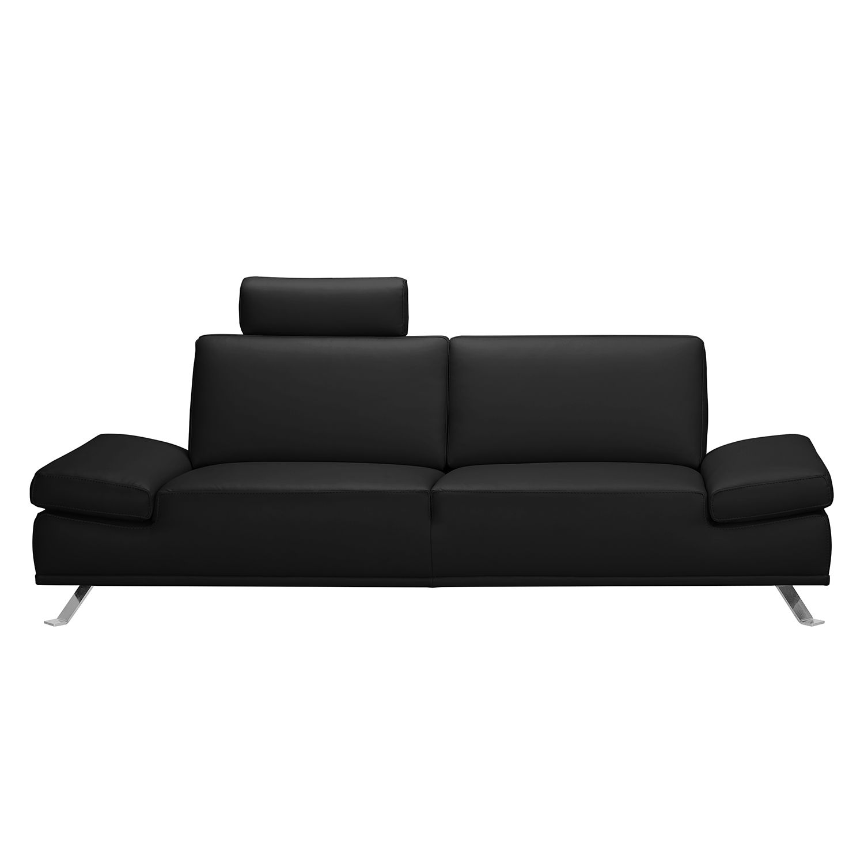 Sofa Toone (3-Sitzer) - Kunstleder - Schwarz, loftscape