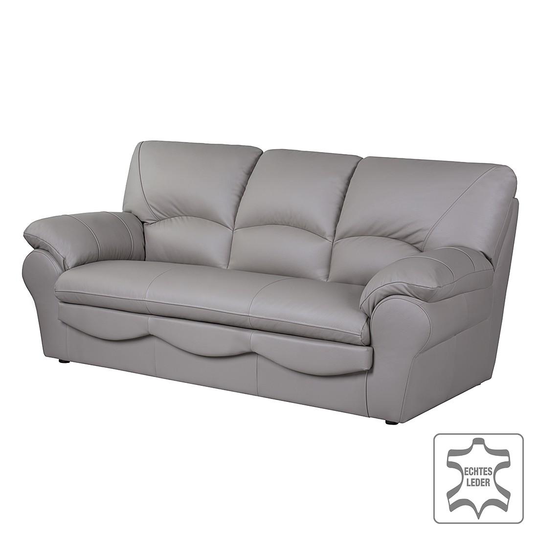 Sofa Torsby (3-Sitzer) – Echtleder Taupe, Nuovoform günstig online kaufen