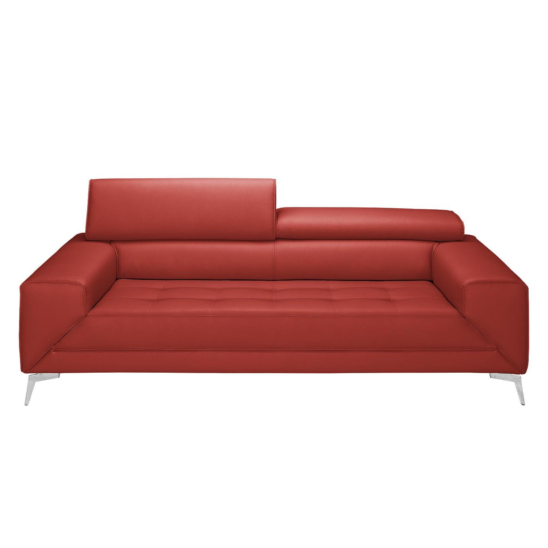 Sofa Walden (3-Sitzer) - Echtleder - Kaminrot, loftscape