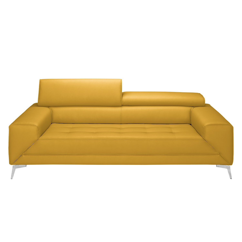 Sofa Walden (3-Sitzer) - Echtleder - Safrangelb, loftscape