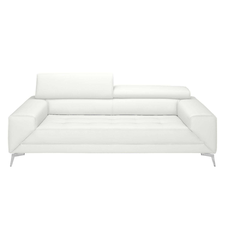 Sofa Walden (3-Sitzer) - Echtleder - Weiß, loftscape