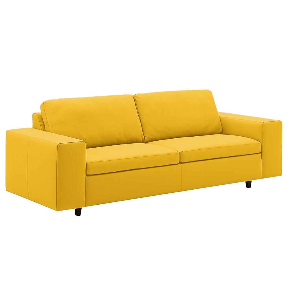 Sofa Wega (3-Sitzer) - Echtleder - Maisgelb, Machalke Polsterwerkstätten